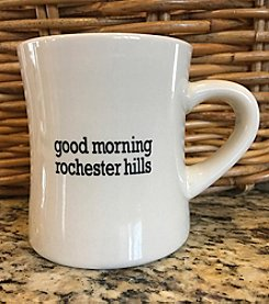 Detroit Scroll Good Morning Rochester Hills Mug