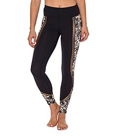 Betsey Johnson® Performance Metallic Print Block Leggings