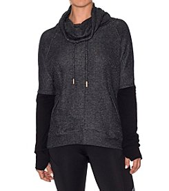 Betsey Johnson® Performance Funnel Neck Pullover