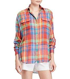 Lauren Ralph Lauren® Plaid Crinkled Shirt