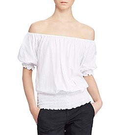 Lauren Ralph Lauren® Smocked Off-The-Shoulder Top