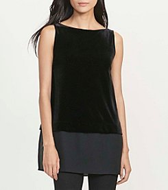 Lauren Ralph Lauren® Sheer-Hem Velvet Top