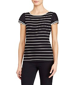Lauren Ralph Lauren® Striped Flutter Sleeve Top