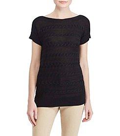 Lauren Ralph Lauren® Boatneck Cable Sweater