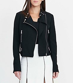 Lauren Ralph Lauren® Stretch Twill Moto Jacket