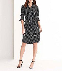 Lauren Ralph Lauren® Foulard-Print Crepe Shirtdress
