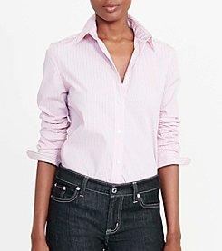 Lauren Ralph Lauren® Striped Stretch-Cotton Shirt
