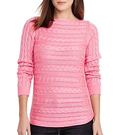 Lauren Ralph Lauren® Cable-Knit Cotton Sweater