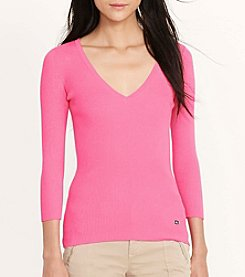 Lauren Ralph Lauren® Ribbed Cotton Sweater