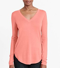 Lauren Ralph Lauren® Silk-Blend V-Neck Sweater