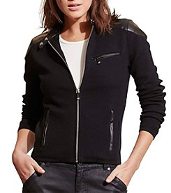 Lauren Ralph Lauren® Stretch Cotton Moto Jacket