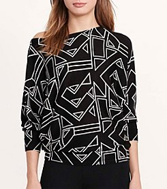 Lauren Ralph Lauren® Geometric-Print Sweater