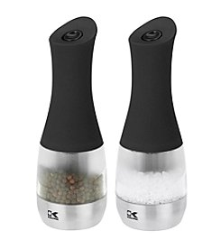 Kalorik Set of 2 Contempo Stainless Steel Electric Salt and Pepper Grinders