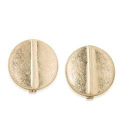 Lauren Ralph Lauren Goldtone Disc Clip Earrings