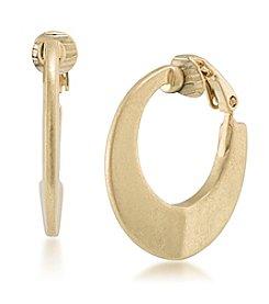 Lauren Ralph Lauren Goldtone Hoop Clip Earrings