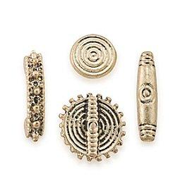 Lauren Ralph Lauren Goldtone 4 Stud Earring Set