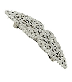 1928® Jewelry Silvertone Filigree Barrette