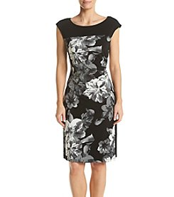 Connected® Color Blocked Floral Sheath Dress