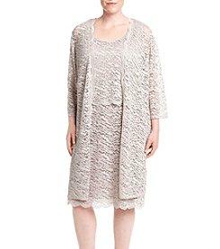 R&M Richards® Plus Size Lace Jacket Dress