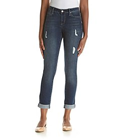 Earl Jean® Destructed Skinny Cuff Ankle Jeans
