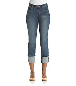 Earl Jean® Distressed Cuffed Jeans