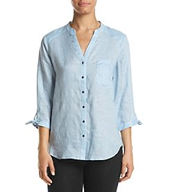 Ivanka Trump® Light Blue Linen Blouse