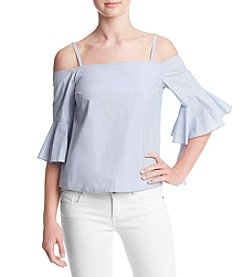 Kensie® Off Shoulder Oxford Shirt