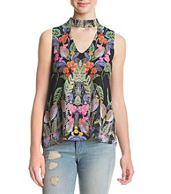 Sequin Hearts® Sleeveless Floral Choker Tank