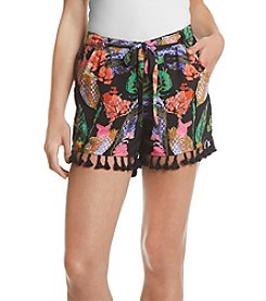 Sequin Hearts® Floral Soft Shorts
