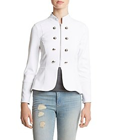 XOXO® White Military Zip Front Jacket