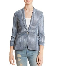XOXO® Striped Single Button Jacket