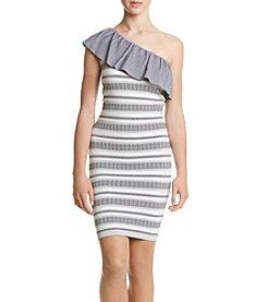 XOXO® Striped One Shoulder Dress