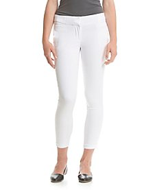 XOXO® White Natural Waist SIde Tab Pants