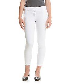 XOXO® White Natural Waist SIde Tab Pants