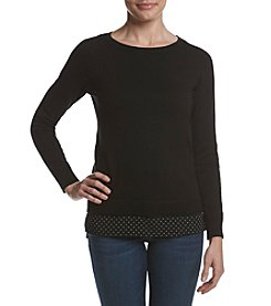 MICHAEL Michael Kors® Tiny Dot Hem Sweater