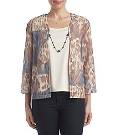 Alfred Dunner® Petites' Skin Patch Layered Look Top