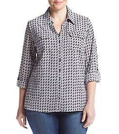 Notations® Plus Size Woven Top