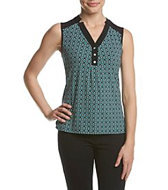 Jones New York® Geometric Print Knit Top