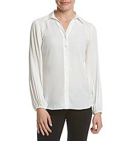 Jones New York® Pleated Sleeve Shirt