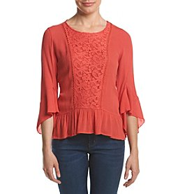 Oneworld® Lace Woven Top