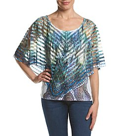 Oneworld® Cold Shoulder Poncho