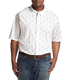 Nautica® Men's Big & Tall Short Sleeve Anchors Printed Shirt