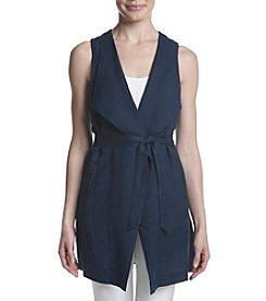Joan Vass® Drape Front Vest