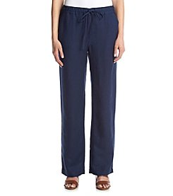 Joan Vass® Linen Drawstring Pants