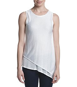 Joan Vass® Asymmetric Hem Double Layer Tank