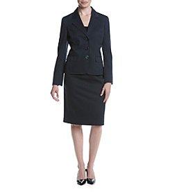 LeSuit® Three Button Jacket And Skirt Suit Set