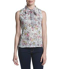 Tommy Hilfiger® Floral Tie Neck Blouse