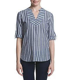 Ivanka Trump® Striped V-Neck Top