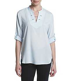 Ivanka Trump® Split Neck Blouse
