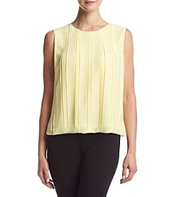 Calvin Klein Pleated Bubble Blouse